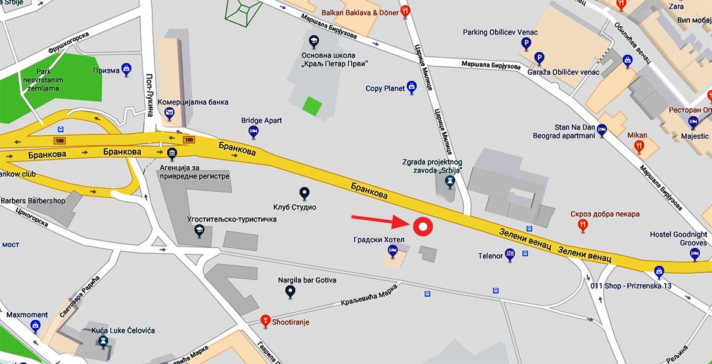 prizrenska 13 beograd mapa Kontakt – Venčanice Principessa prizrenska 13 beograd mapa